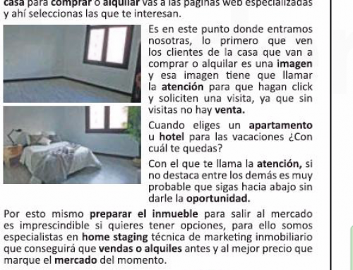 Casas a Punto Home Staging en  «El País»