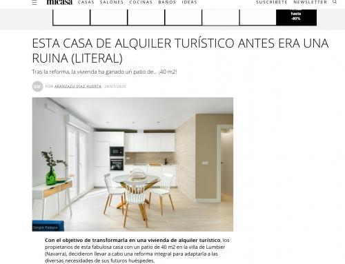 """Una de nuestras viviendas publicada en la revista """" Mi casa"""""""